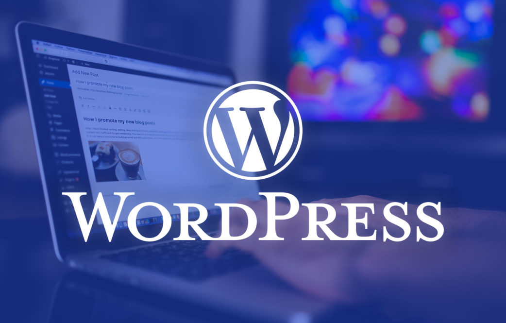easily with wordpress